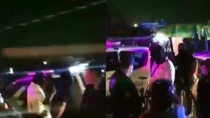 Al menos seis agentes detuvieron a Giovanni a las alrededor de las 21:30 horas del 04 de maya pasado en Ixtlahuacán de los Membrillos (Foto: @porkestendencia / Twitter - captura de pantalla.)