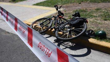 Dmitry Amiryan fue asesinado este martes mientras circulaba en bicicleta por el barrio de Retiro (Maximiliano Luna)