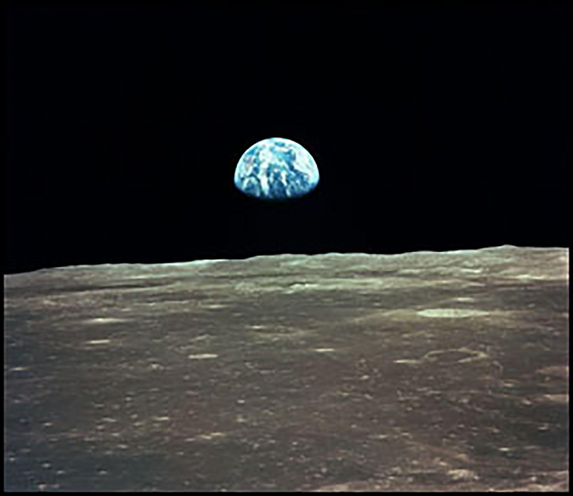 La vista de la Tierra desde la Luna