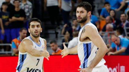 Facundo Campazzo y Patricio Garino, dos de los mejores jugadores de Argentina en el Mundial de China (Reuters)