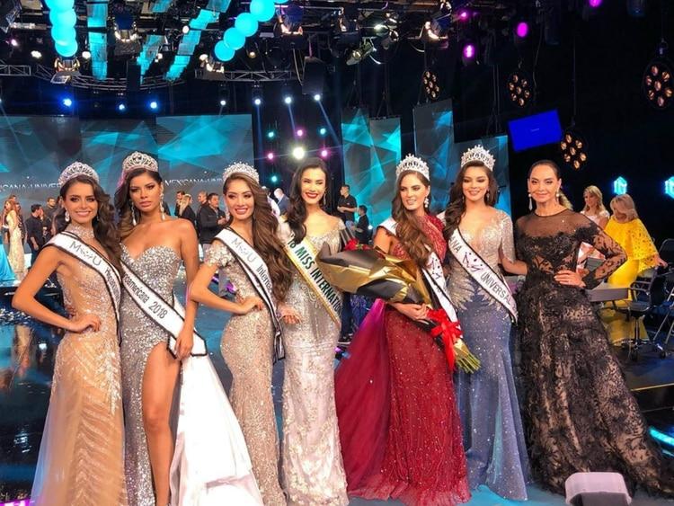 Sofía junto a las otras finalistas (Instagram)