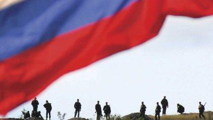 Tropas rusas desplegadas en territorio georgiano durante el breve pero intenso conflicto bélico de agosto de 2008. Foto: AFP.