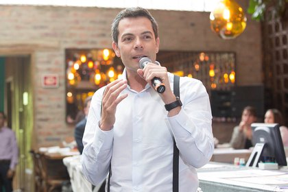 El presentador colombiano Iván Lalinde. Foto: Colprensa.