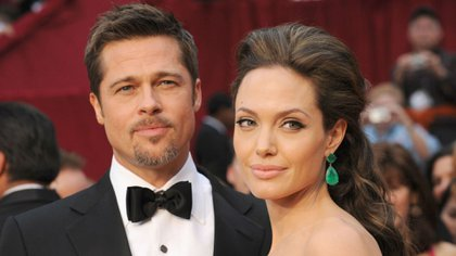 Brad Pitt con Angelina Jolie