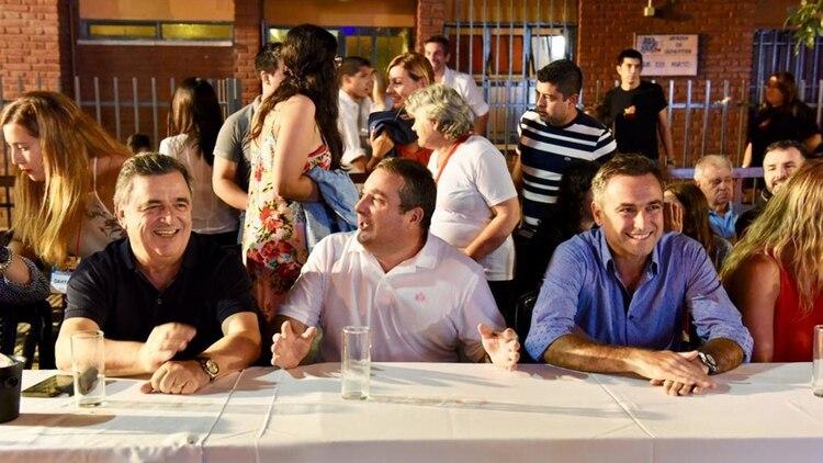 Sonrisas entre Negri y Mestre hace no mucho tiempo. Ambos candidatos competirán en listas separadas