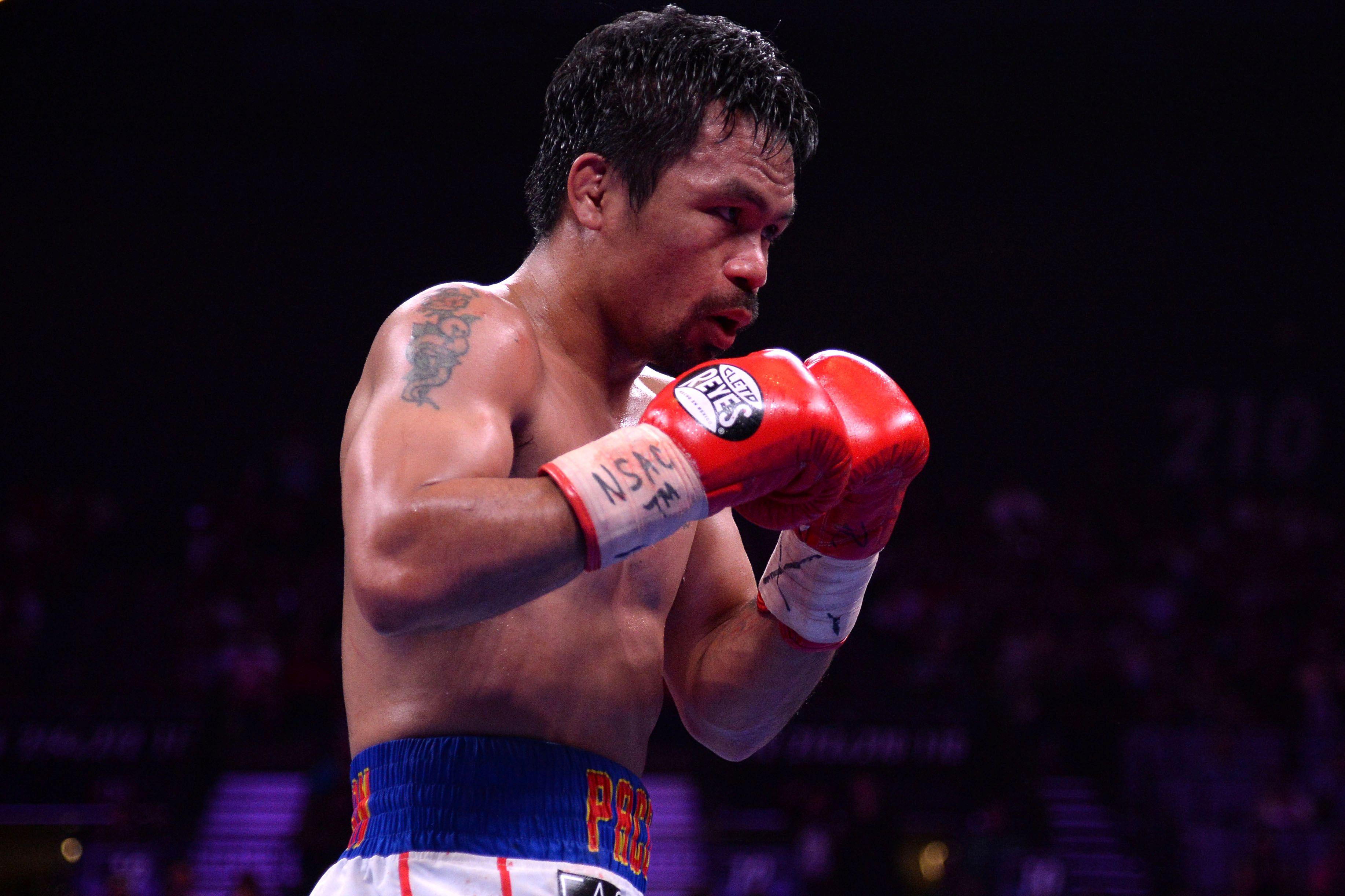 Manny Pacquiao volverá a subirse a un ring después de dos años (Joe Camporeale-USA TODAY Sports/File Photo)