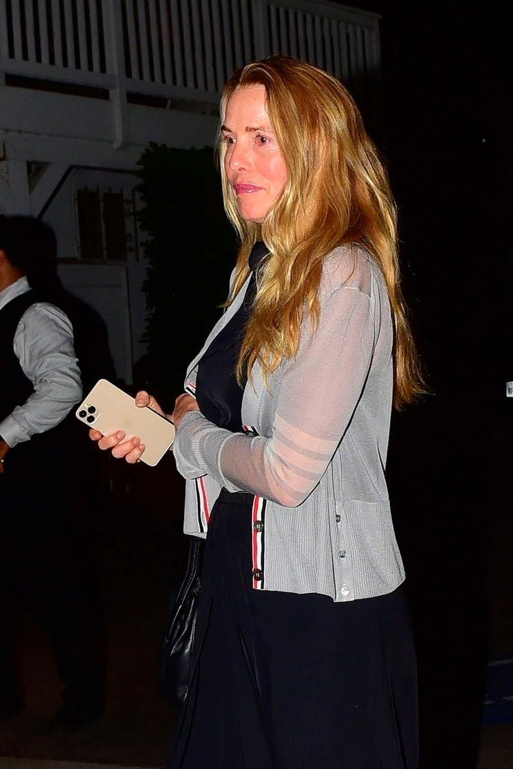 El actor y la empresaria Laurene Powell fueron a comer a un restaurante de Los Ángeles sin ocultarse (Grosby Group)