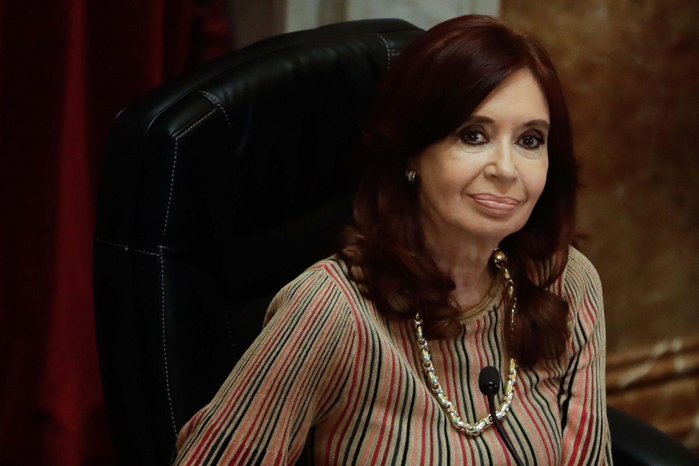 Imagen de archivo de la vicepresidenta de Argentina Cristina Fernández de Kirchner. EFE/Juan Ignacio Roncoroni