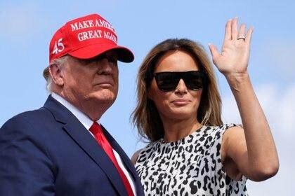 Donald y Melania Trump (Reuters)