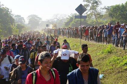 Durante 2020, fuerzas federales mexicanas aseguraron a 1,288 migrantes, cuyo destino era EEUU (Foto: EFE/Juan Manuel Blanco)