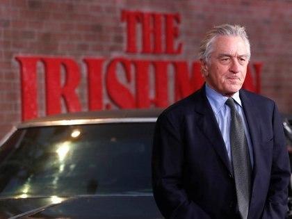 """Foto de archivo. El productor y parte del elenco de """"El irlandés"""", Robert De Niro, al llegar al lanzamiento de la película en Los Ángeles, EEUU. 24 de octubre de 2019. REUTERS/Mario Anzuoni."""