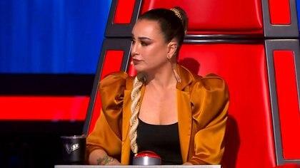 """Belinda y María José pronunciaron algunas frases características de """"La Chica Dorada"""" (Foto: captura de pantalla)"""