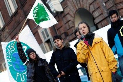 La activista Greta Thunberg, figura clave del movimiento sustentable  (REUTERS/Guglielmo Mangiapane)
