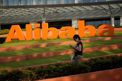 Employees at Alibaba Headquarters