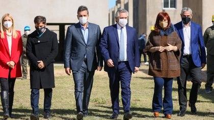 Alberto Fernández y Cristina Kirchner compartieron un acto en Ensenada. (Presidencia)
