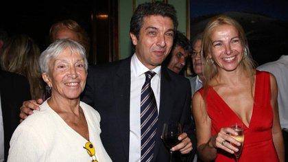 Reneé con sus hijos, Ricardo y Alejandra Darín (Fotos: Verónica Guerman / Teleshow)