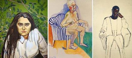 """Kate Millett"" (1970) / ""Autorretrato"" (1980) / ""Black Draftee (James Hunter)"" (1965)"