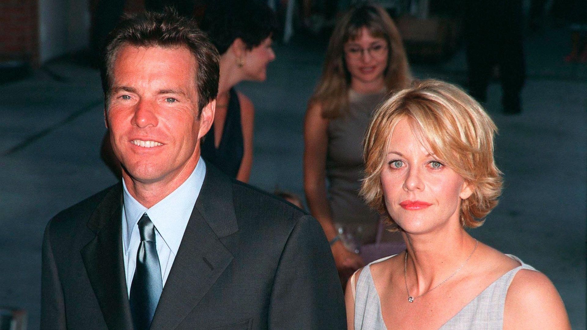 """Durante la filmación de """"Prueba de vida"""" (2002), la actriz se enamoró de Russell Crowe. Quaid y Ryan se divorciaron y el dedo acusador señaló a la actriz como la causante. Ella cayó sobre las infidelidades de su pareja y los problemas de convivencia (Shutterstock)"""