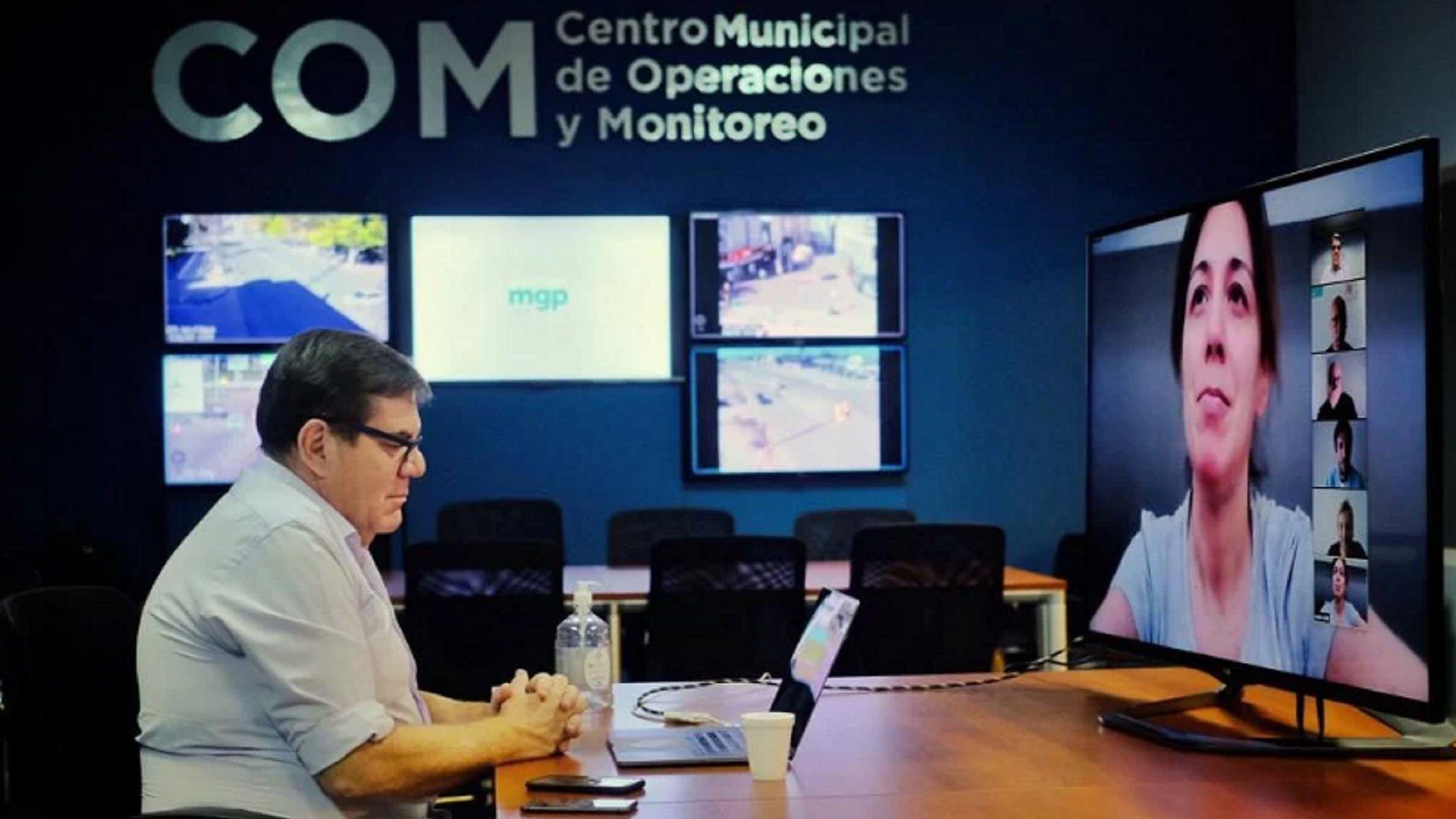 La videollamada que tuvo con Guillermo Montenegro, intendente de Mar del Plata, la semana pasada