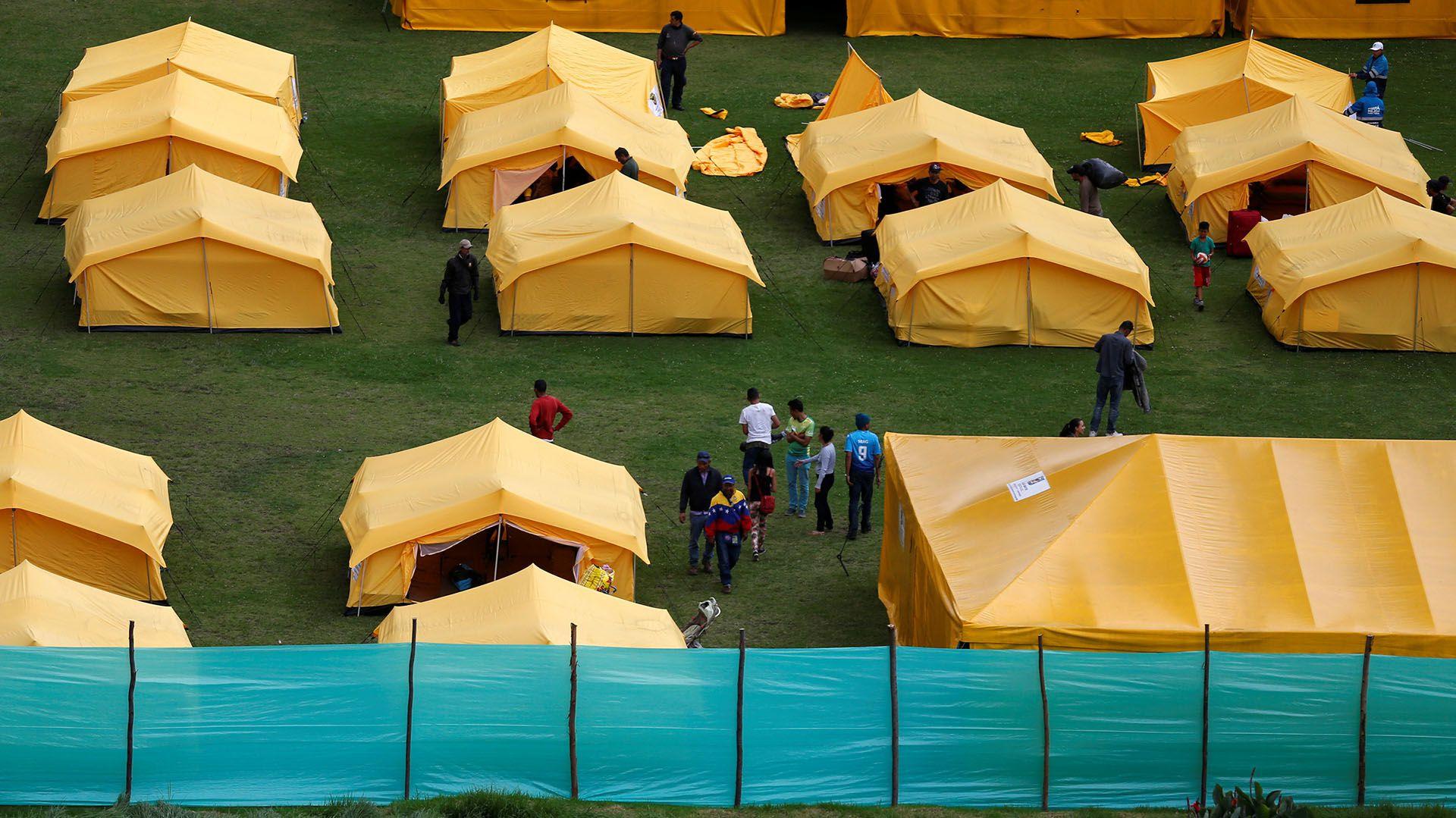 Campamento de venezolanos en Colombia (REUTERS/Luisa Gonzalez)