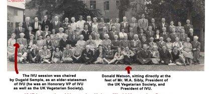 Unión Vegetariana Internacion (UVI) en el Congreso Mundial Vegetariano de 1947.