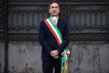 El alcalde de Milán, Giuseppe Sala, durante un homenaje a los muertos por el coronavirus (Miguel MEDINA / AFP)