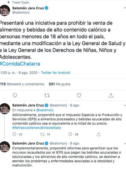 Salomón Jara Cruz, senador por Oaxaca, planteó que el IEPS sea equivalente a la mitad del precio del producto (Foto: Twitter)