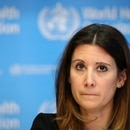 FILE PHOTO: Technical Lead for the World Health Organization (WHO) Maria Van Kerkhove attends a news conference on the situation of the coronavirus (COVID-2019), in Geneva, Switzerland, February 28, 2020. REUTERS/Denis Balibouse/File Photo
