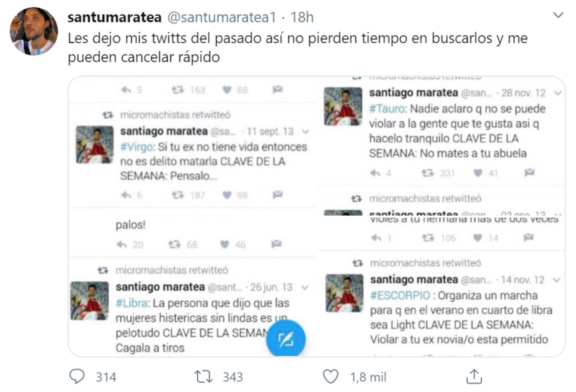 Mensaje de Santiago Maratea