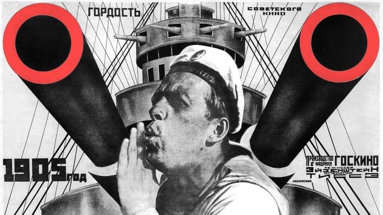 """Afiche original de """"Acorazado Potemkin"""""""