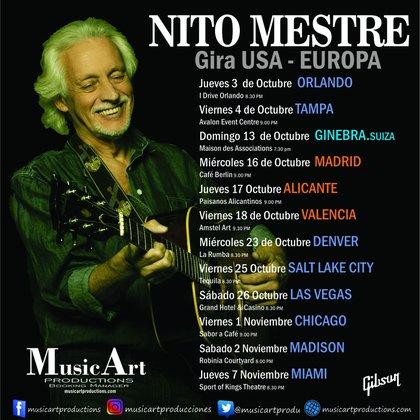 Nito Mestre realizará una gira por los Estados Unidos y Europa