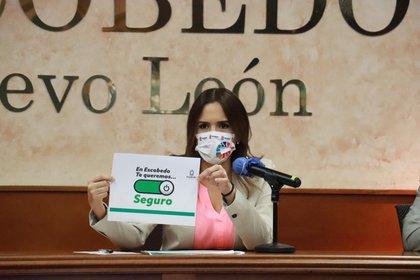 Clara Luz Flores Carrales, alcaldesa de Escobedo, contó cuáles son los síntomas que presentó  (Foto: Twitter@claraluzflores)