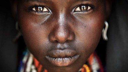 Onno, una adolescente de la tribu Arbore en Valle del Omo en Etiopía Matjaz Krivic / National Geographic Photo Contest 162