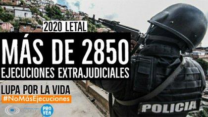 Más de 2.850 personas fueron víctimas de la letalidad de los cuerpos armados del Estado venezolano (PROVEA)