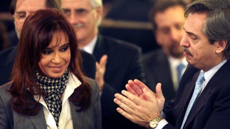 La ex presidenta Cristina Kirchner y Alberto Fernández (Reuters)