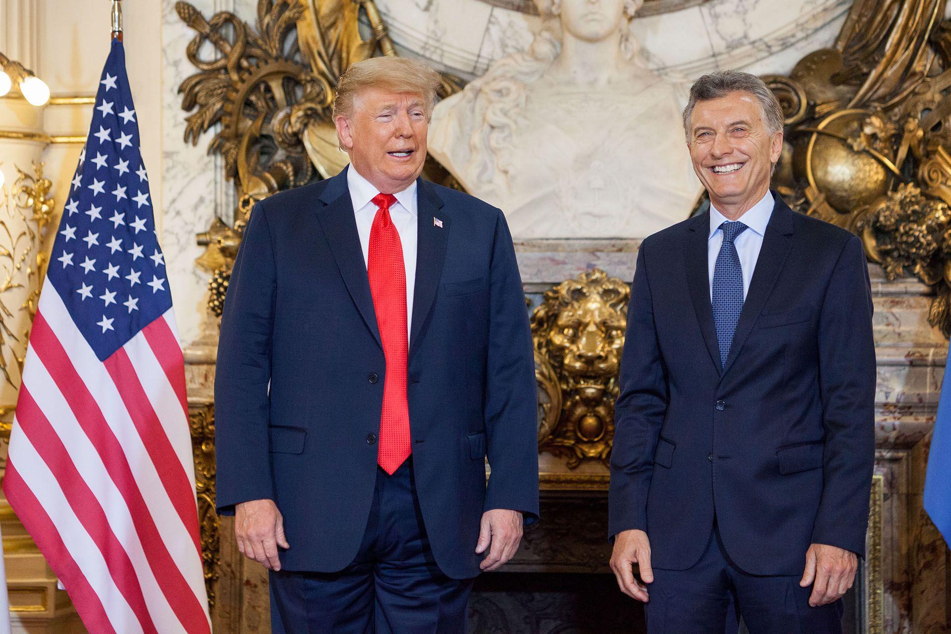 Donald Trump y Mauricio Macri (Erica Canepa/Bloomberg)