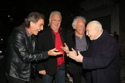 Con Oscar Ruggeri, Coco Basile y Guillermo Coppola