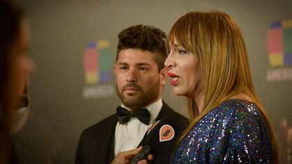 Lizy Tagliani y su novio (Gustavo Gavotti)