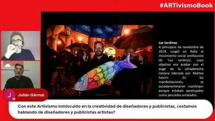 El autor y el editor de ARTivismo, Antoni Gutiérrez-Rubí y Lluís Pastor, dialogaron con los participantes en la presentación virtual del libro.
