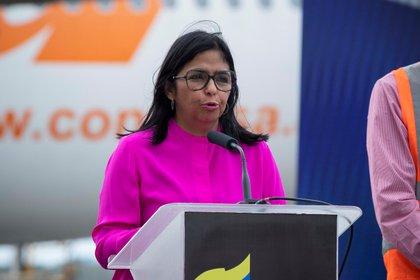En la imagen la vicepresidenta de Venezuela, Delcy Rodríguez. EFE/ Rayner Peña R/Archivo