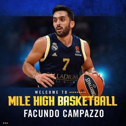 Denver Nuggets oficializó la llegada de Facundo Campazzo (@Nuggets)