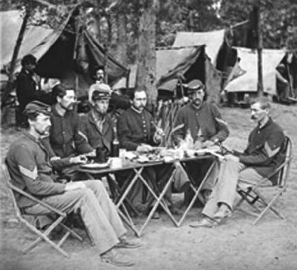 Una celebración de Thanksgivingdurante la Guerra de Secesión.