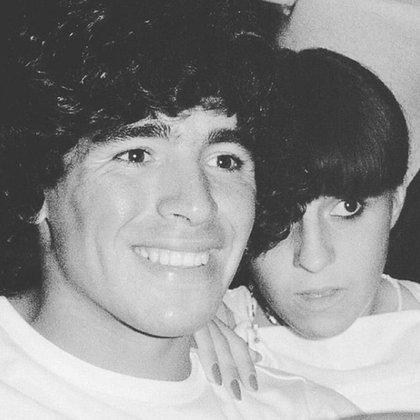 Claudia y Diego (Instagram Gianinna Maradona)