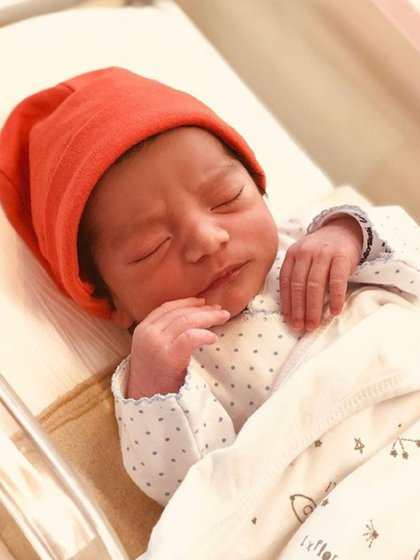 Francesco Benicio Ambrosioni Rial nació a las 8:54 am el 27 de marzo a través de una cesárea programada (Instagram)