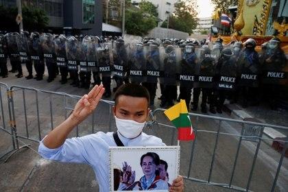 Las fuerzas de seguridad de Myanmar reprimieron las manifestaciones opositoras (REUTERS/Soe Zeya Tun)