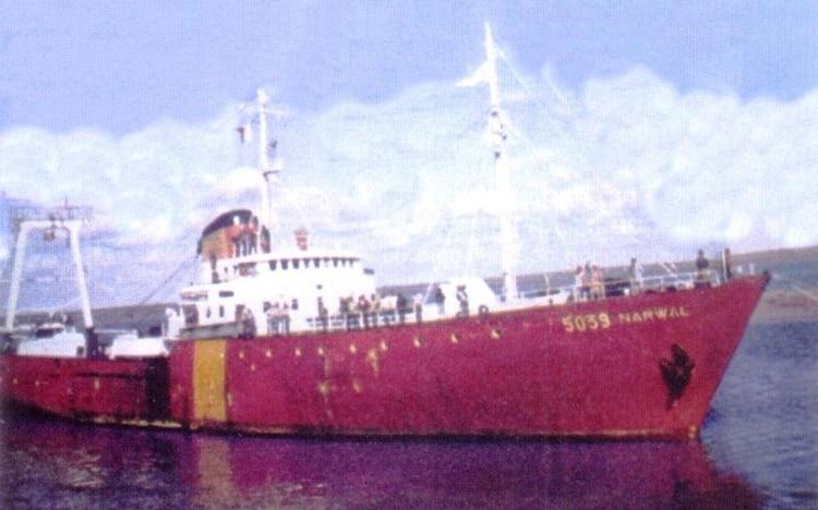 Hasta ser afectado por el entonces Comando en Jefe de la Armada, el Narwal era un buque pesquero perteneciente a la Compañía Sudamericana de Pesca y Exportación que realizaba su faena pesquera habitual en el Atlántico sur