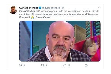 El tuit del periodista Gustavo Méndez