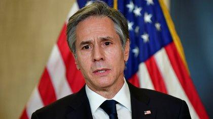 El secretario de Estado norteamericano Antony Blinken (Frederic J. Brown/REUTERS)