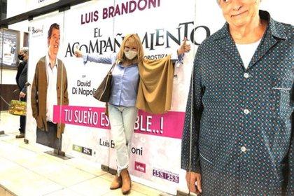 Soledad Silveyra, antes de la función teatral de su amigo Luis Brandoni (Instagram)