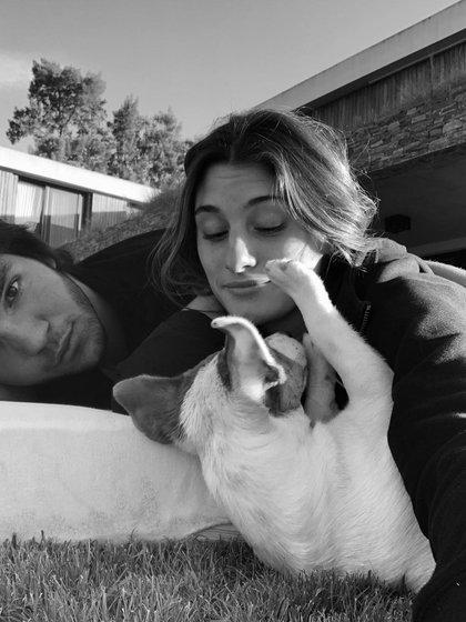 Lola Latorre con su novio, Jerónimo